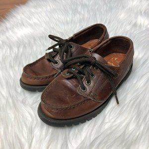 Sperry Kids Boys Loafer Shoes Brown Leather 10.5
